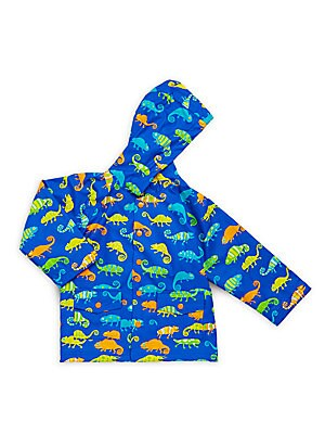 Little Boy's & Boy's Crazy Chameleon Raincoat