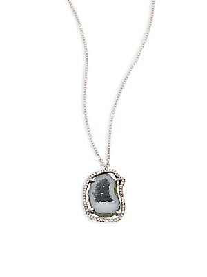Click here for Diamond  Geode & 14K White Gold Pendant Necklace prices