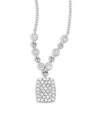 Click here for Diamond & 14K White Gold Pendant Necklace prices