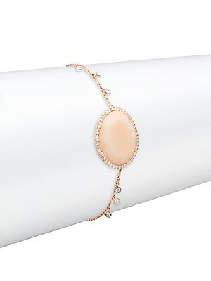 Click here for Diamond  Opal & 14K Rose Gold Bracelet prices