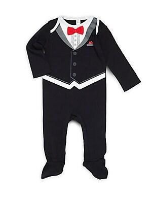 Baby's Cotton Tuxedo Footie