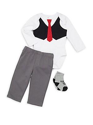 Baby's Three-Piece Bodysuit, Pants & Socks Set