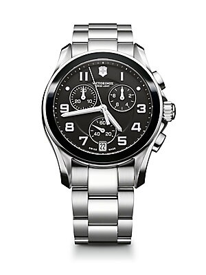 Chrono Classic Stainless Steel Chronograph Bracelet Watch