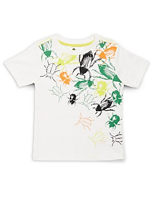 Boy's Bug Print Crewneck T-Shirt