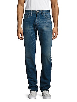 Standard Whiskered Cotton Jeans