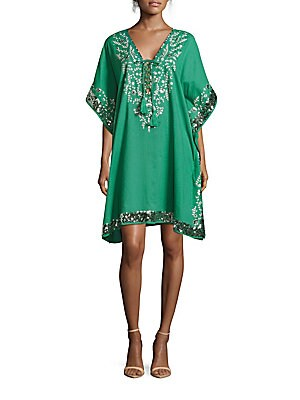 Sequined Caftan Dress