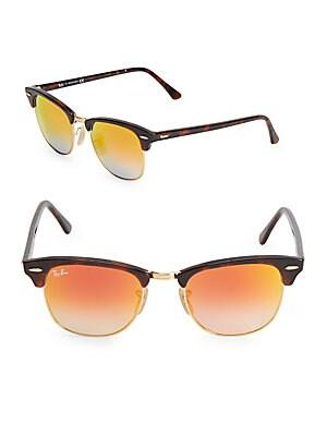 51MM Tortoise Clubmaster Sunglasses