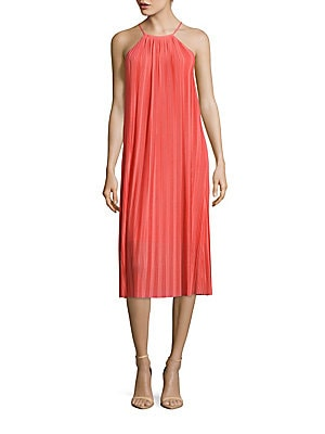 Quinn Halterneck Pleated Dress