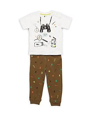 Baby's Printed Tee & Pants Set