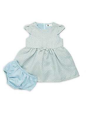 Baby's Princess Textured Dress & Bloomers Set