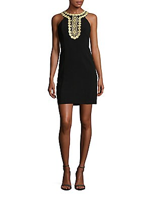 Embellished Halter Sheath Dress