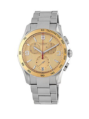 Stainless Steel Chronograph Water-Resistant Bracelet Watch