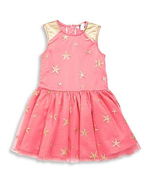 Little Girl's Star-Print Sleeveless Dress