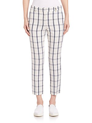 Treeca Plaid Cropped Pants