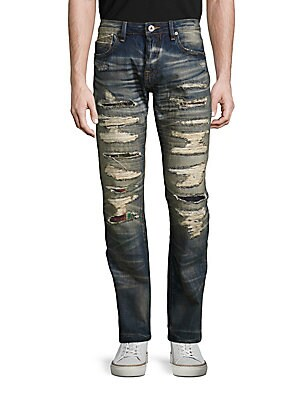 Rebel Straight Faded Jeans
