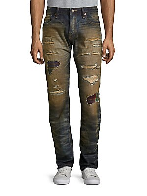 Rebel Straight Cotton Jeans