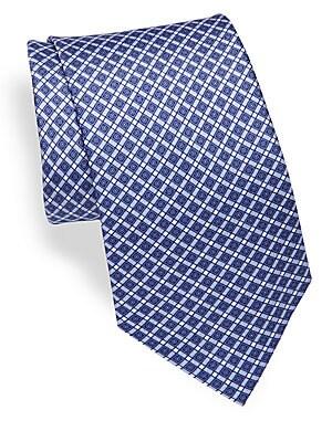 Geometric Print Silk Tie