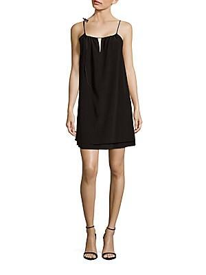 Samantha Solid Silk Dress