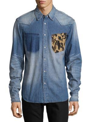 Rifle Cotton Casual Button-Down Shirt PRPS