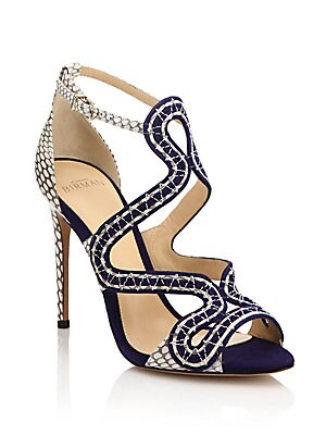 Suede & Cobra Sandals