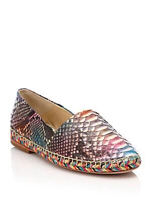 Rainbow Python Espadrille Flats