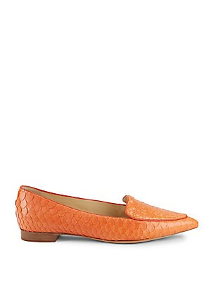 Python Point-Toe Loafers