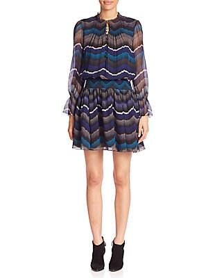 Kelley Silk Smocked Dress