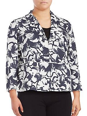 Bellene Floral Print Cropped Jacket