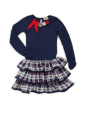 Little GIrl's & Girl's Jenna Plaid-Skirted Dress
