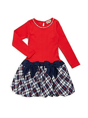 Little Girl's & Girl's Rissa Plaid Dress