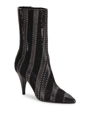 Calix Embellished Leather Ankle Boots