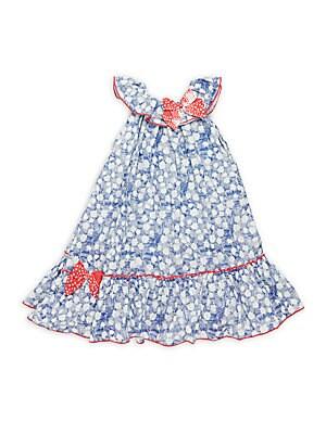 Little Girl's & Girl's Printed Cotton Dress