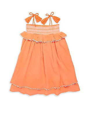 Little Girl's & Girl's Cotton Straight-Across Dress