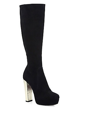 Hayes Tall Suede Platform Boots