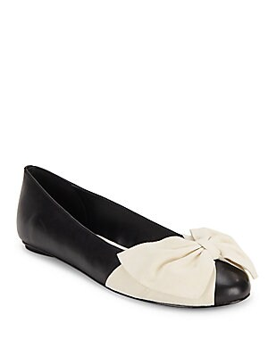 Riley Round-Toe Leather Flats