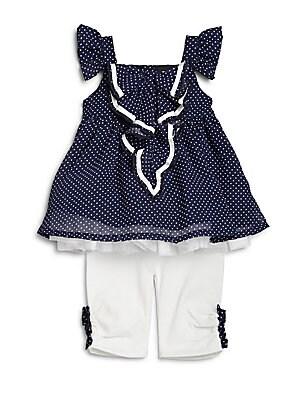 Baby's Two-Piece Polka-Dot Top & Leggings Set
