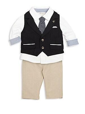Baby's Three-Piece Vest, Shirt & Pants Set