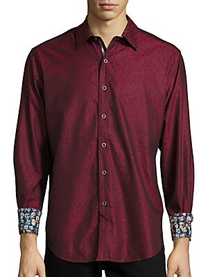 Basilio Printed Long-Sleeve Shirt