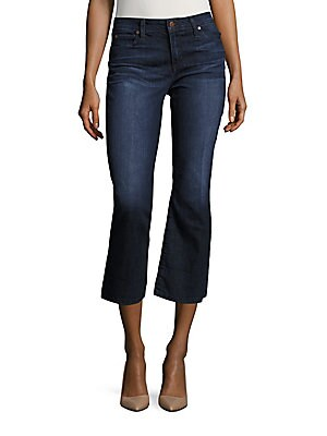 The Olivia Flared Cropped Jeans