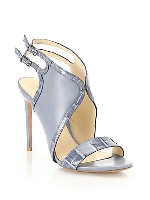 Jany Crocodile & Leather Sandals
