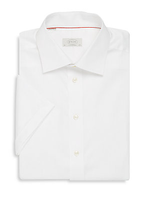 Cotton Short-Sleeve Contemporary-Fit Shirt