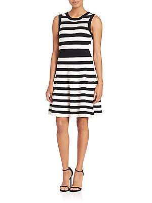 Pointelle Striped Dress