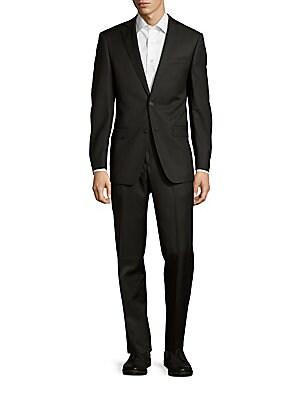 michael kors male modernfit check wool suit