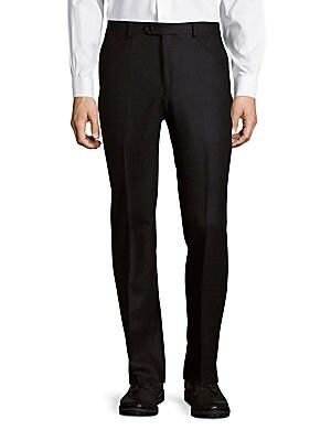 Joplin Luxe Glen-Plaid Dress Pants