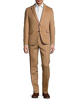 Camel Hair Blend Suit