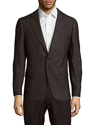 michael kors male textured woolen blazer