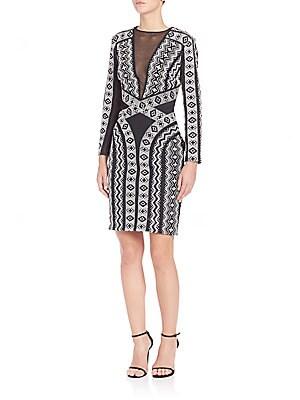 Two-Tonal Geometrical Printed Dress