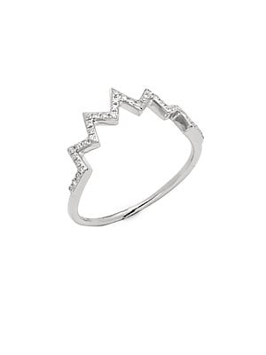 Click here for 14K White Gold & Diamond Electric Zig-Zag Ring prices
