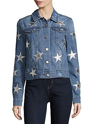 Star Appliqued Denim Jacket