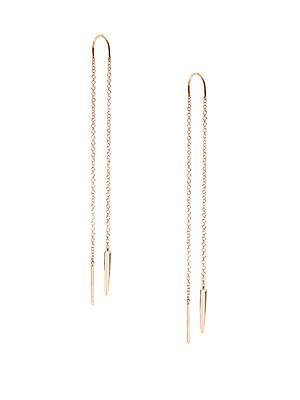 14K Rose Gold Chain Drop Earrings